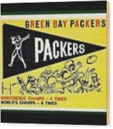 Green Bay Packers 1959 Pennant Wood Print