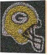 Green Bay Packers Bottle Cap Mosaic Wood Print