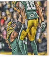 Green Bay Packers Team Art Wood Print