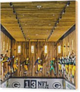 Green Bay Packers Uniforms Then And Now Wood Print