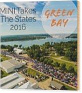 Green Bay Rise/shine 2 W/text Wood Print
