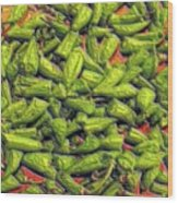 Green Bean Tips Wood Print