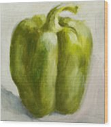 Green Bell Pepper Wood Print
