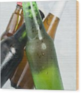 Green Bottle Of Beer Wood Print by Deyan Georgiev