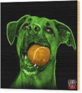 Green Boxer Mix Dog Art - 8173 - Bb Wood Print