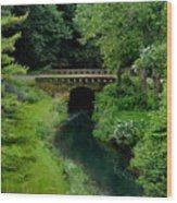 Green Bridge Wood Print