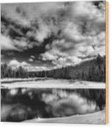 Green Bridge Solitude Wood Print