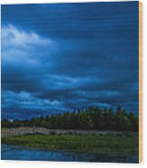 Green Cay Storm 5 Wood Print