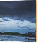 Green Cay Storm 6 Wood Print