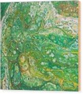 Green Cells Wood Print