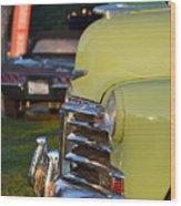 Green Chevy Wood Print