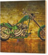 Green Chopper Wood Print