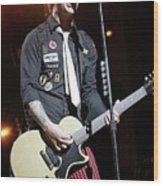 Green Day Billie Joe Armstrong Wood Print