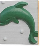 Green Dolphin Wood Print