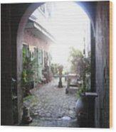 Green Door 7 Wood Print
