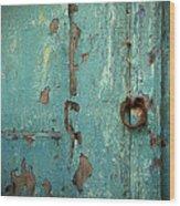Green Door. Essaouira. Morocco Wood Print