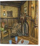 Green Dragon Fireplace Wood Print