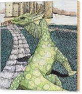 Green Dragon Wood Print