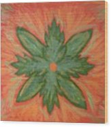 Green Dream Wood Print