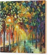 Green Dreams Wood Print by Leonid Afremov