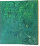 Green Exoplanet Surface Wood Print