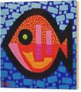 Green Eyed Fish  Wood Print by John  Nolan