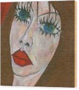 Green Eyed II  Wood Print