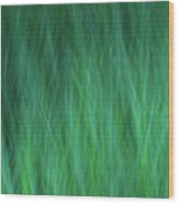 Green Fire 1 Wood Print