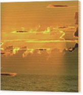 Green Flash Sunset II Wood Print