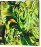 Green Glass Wood Print