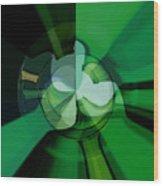 Green Glass Wheels Wood Print