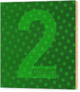 Green Goddess Santhia Wood Print