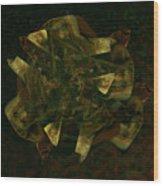 Green Gold Wood Print