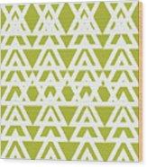 Green Graphic Diamond Pattern Wood Print