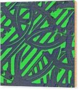 Green Grate Wood Print