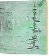 Green Gray Abstract Wood Print