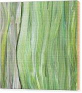 Green Gray Organic Abstract Art For Interior Decor Vi Wood Print