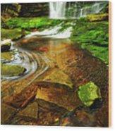 Green Grotto Wood Print