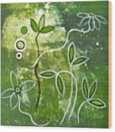 Green Growth Wood Print