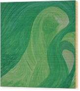 Green Harmony Wood Print