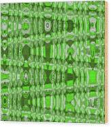 Green Heavy Screen Abstract Wood Print