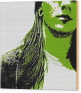 Green Is In Wood Print