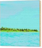 Green Island Wood Print