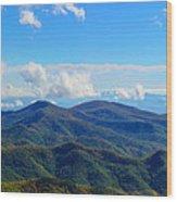 Green Knob Hdr Eastern Panorama Wood Print