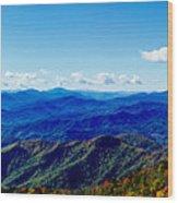 Green Knob Hdr Southern Panorama Wood Print