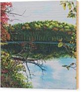 Green Lakes Wood Print