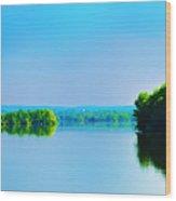 Green Lane Reservoir Wood Print