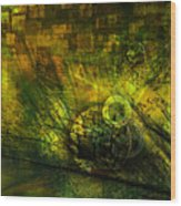 Green Lantern Wood Print by Monroe Snook