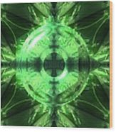 Green Leaf Mild Abstract Wood Print
