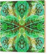Green Leafmania 3 Wood Print
